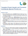 Tanyptera Project Priority Species 2019 V3 – PDF version