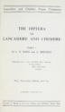 The Diptera of Lancashire and Cheshire: Part 1